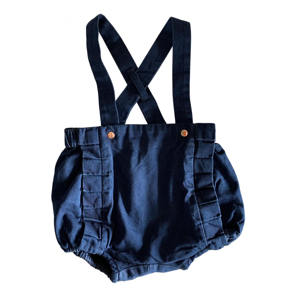 Jacadi \N Kleid in  Blau Denim - Jeans