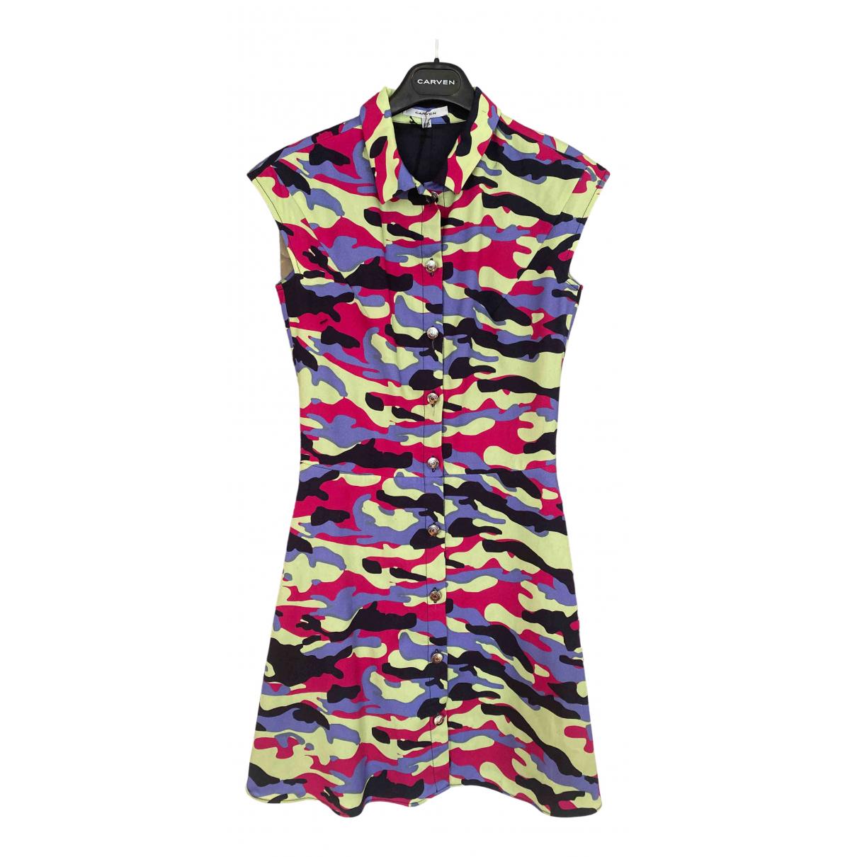 Carven \N Multicolour Cotton dress for Women 36 FR