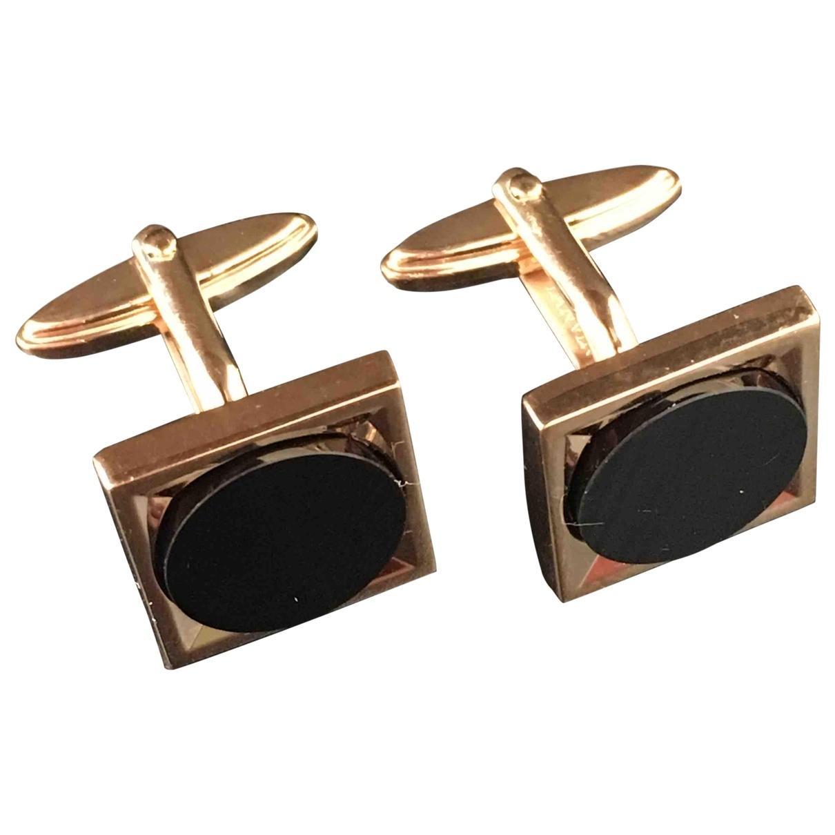 Lanvin \N Gold Metal Cufflinks for Men \N