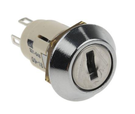 Lorlin Key Switch, SP-CO, 3 A @ 50 V dc, 5 A @ 115 V ac 2-Way, -20 → +65°C