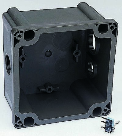 Legrand , HYPRA IP44, IP45 Grey Surface Mount 3P+E Right Angle Industrial Power Socket, Rated At 63.0A, 415.0 V