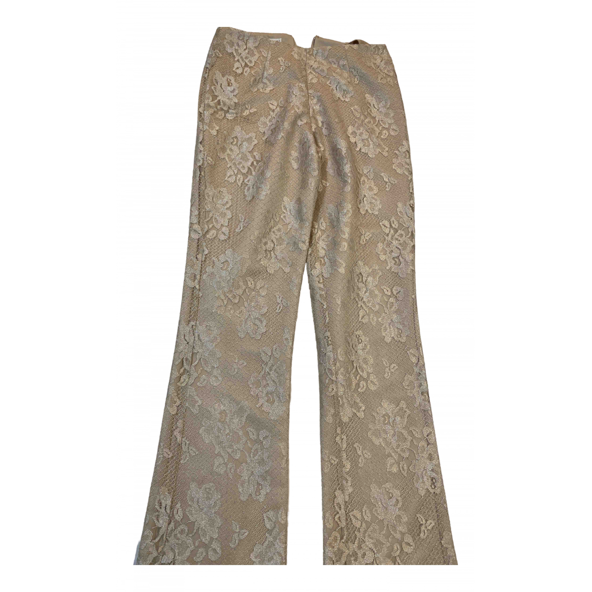 Non Signé / Unsigned N Beige Trousers for Women S International