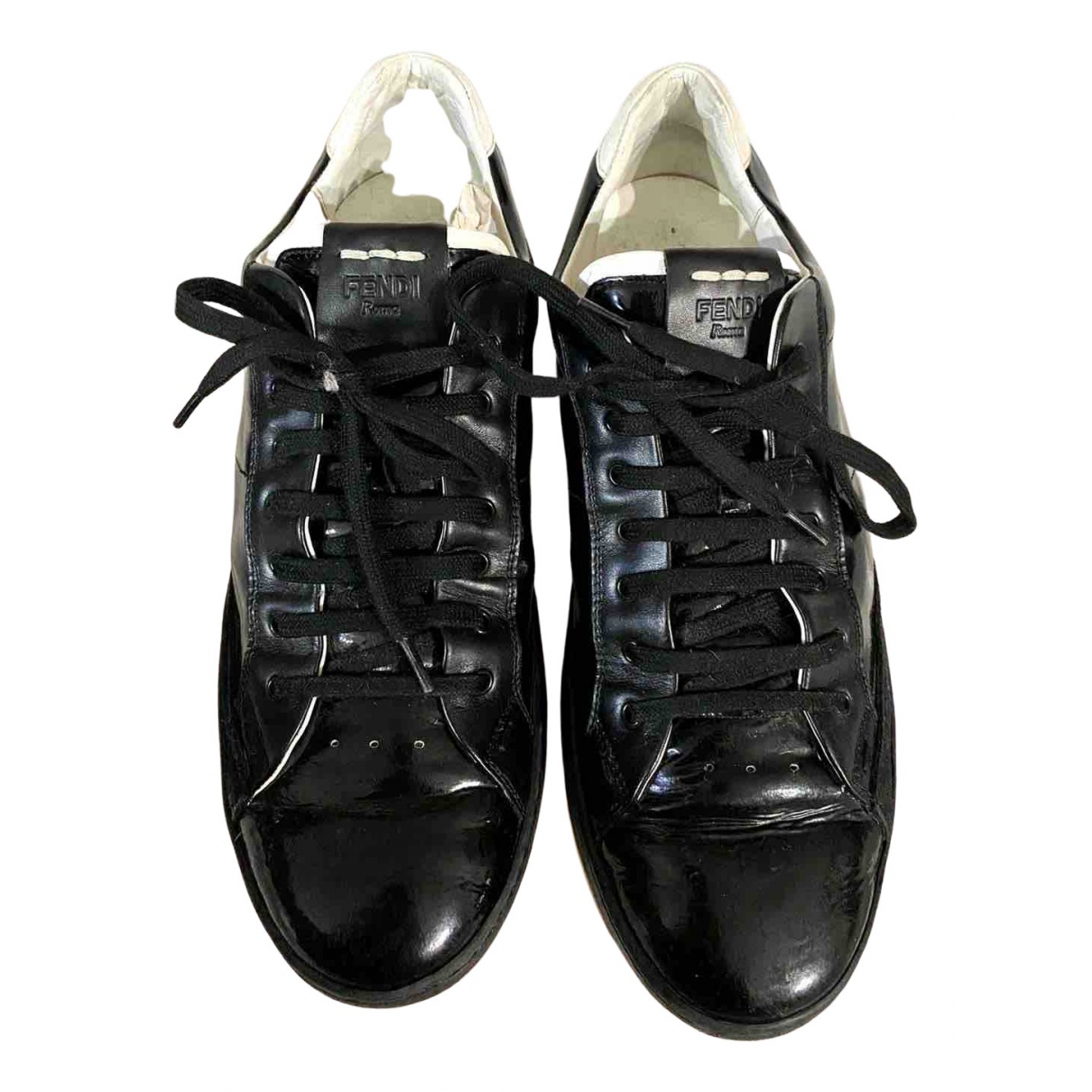 Fendi N Black Leather Trainers for Men 8 UK