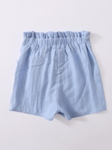 Girls Paperbag Waist Tie Front Wrap Shorts