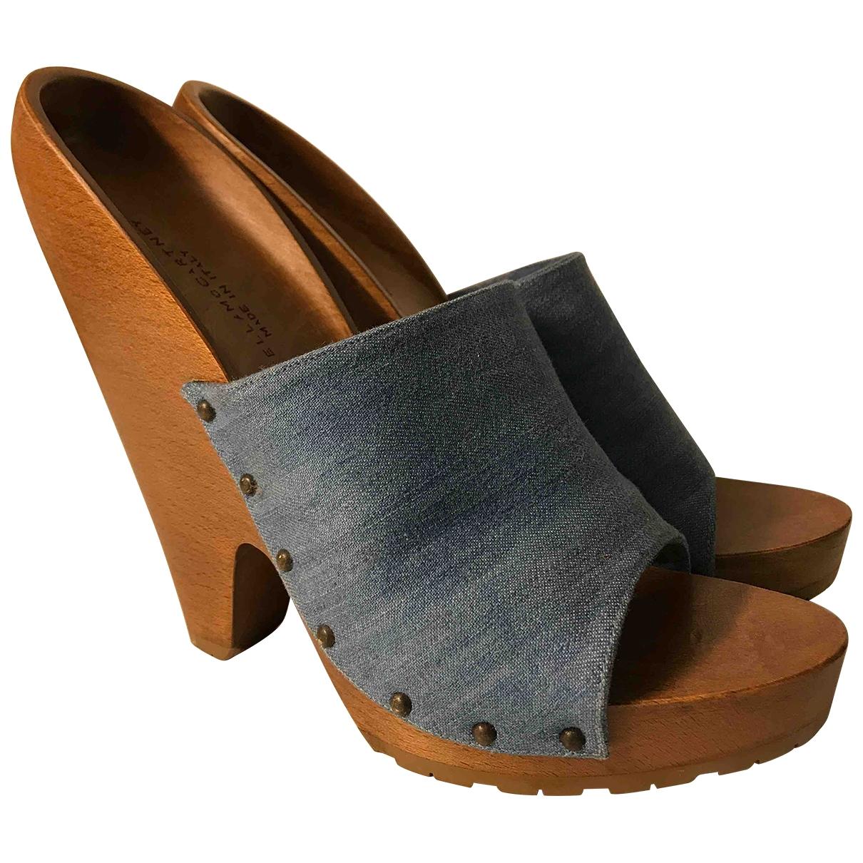 Stella Mccartney \N Blue Cloth Mules & Clogs for Women 39 EU