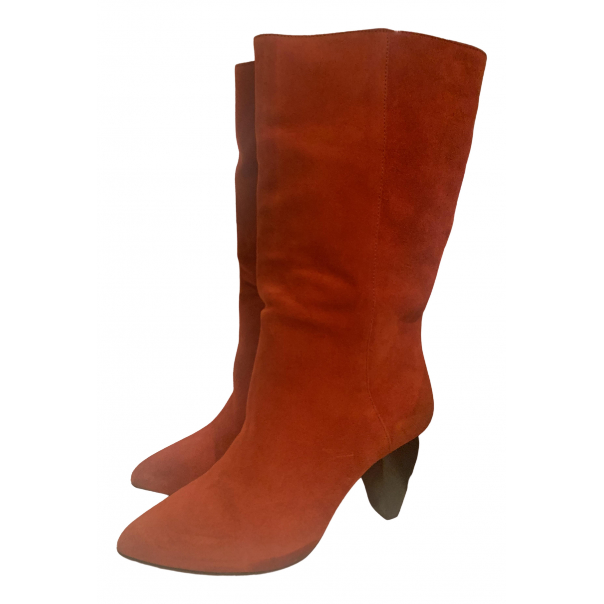 Sandro \N Red Suede Boots for Women 36 EU