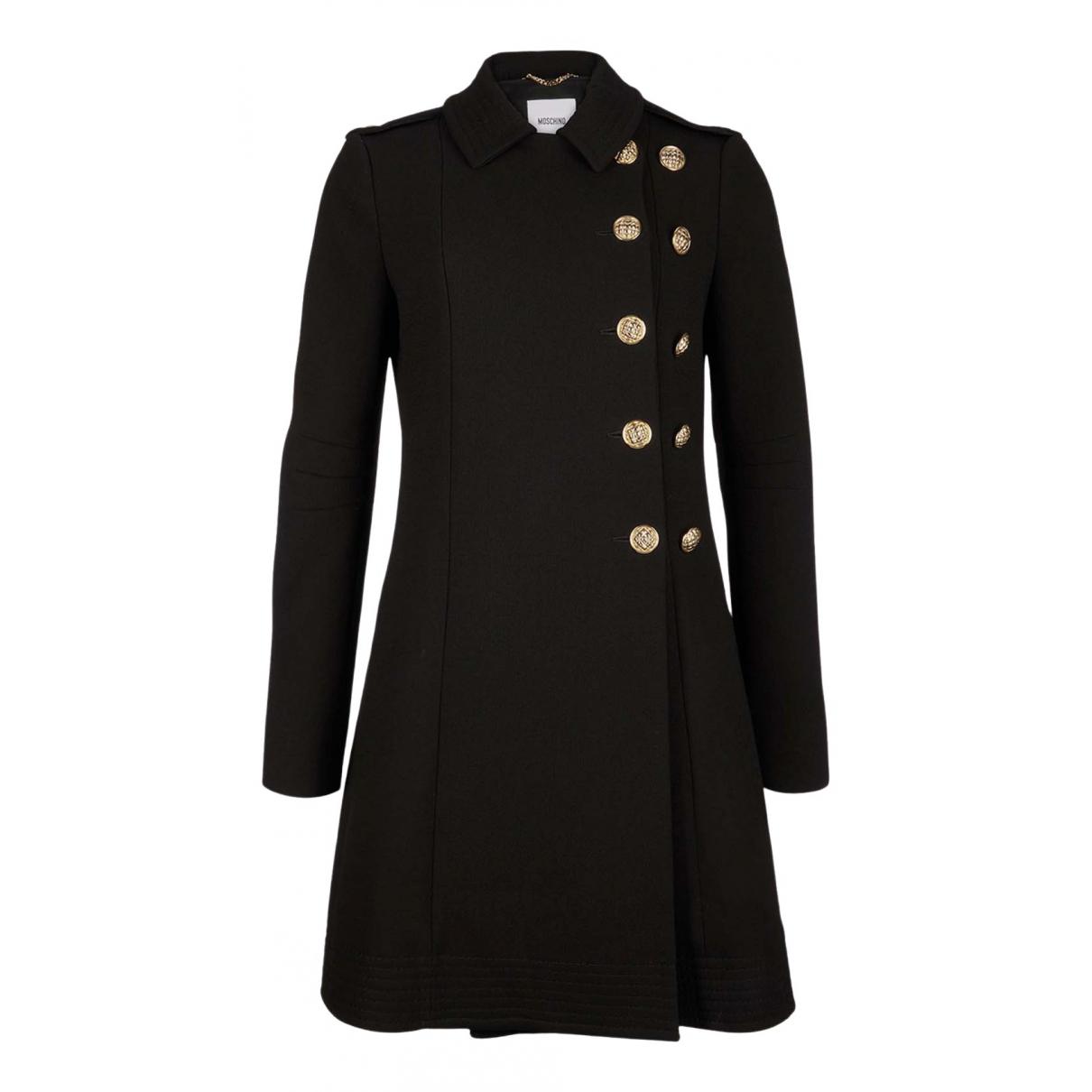 Moschino - Manteau   pour femme en laine - noir