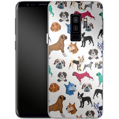 Samsung Galaxy S9 Plus Silikon Handyhuelle - Puppy Love von Mukta Lata Barua