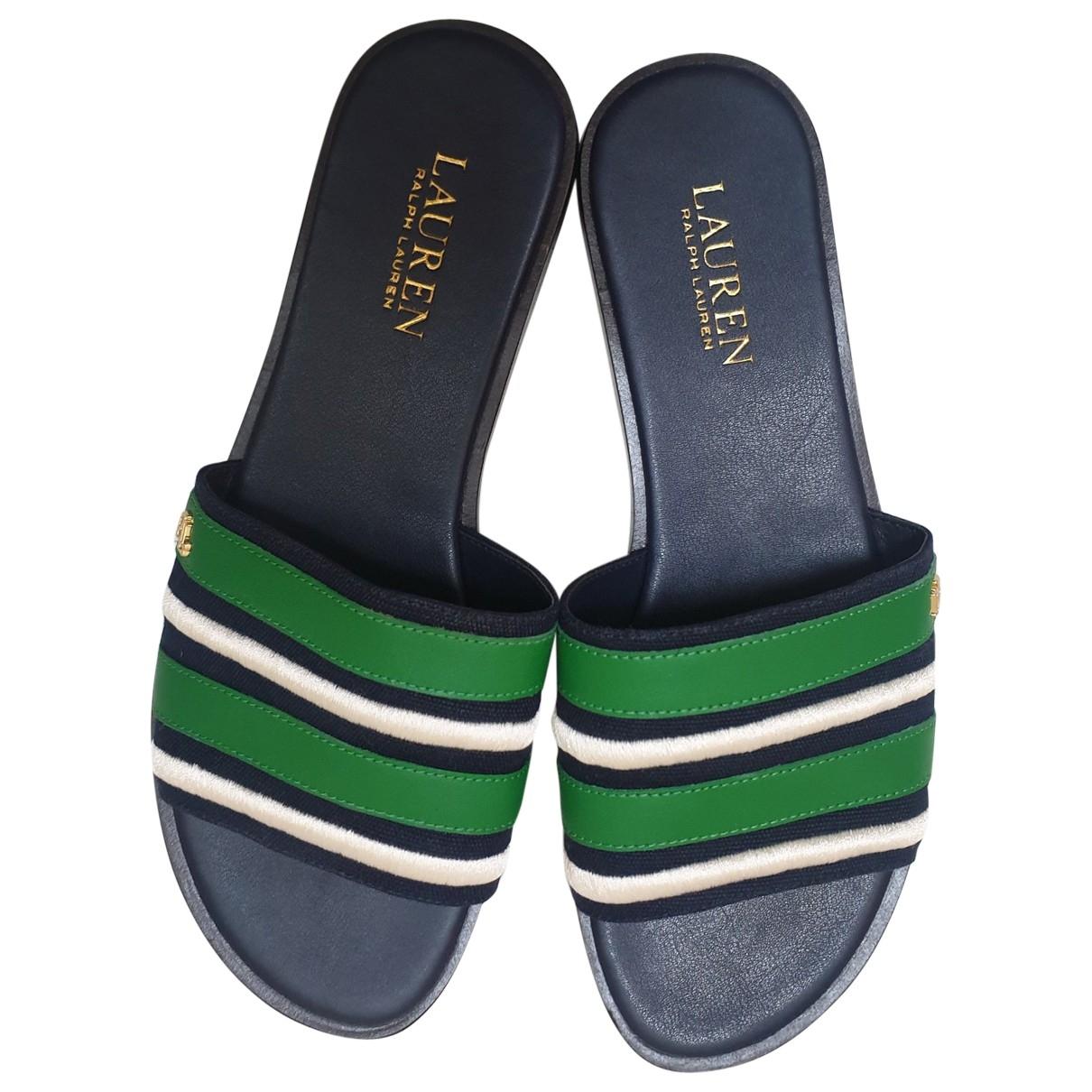 Lauren Ralph Lauren \N Blue Leather Sandals for Women 8.5 UK