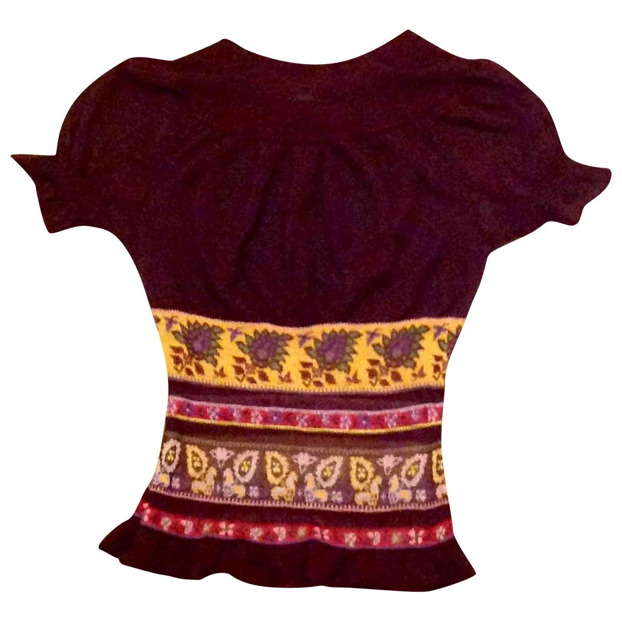 Kenzo - Top   pour femme en laine - bordeaux