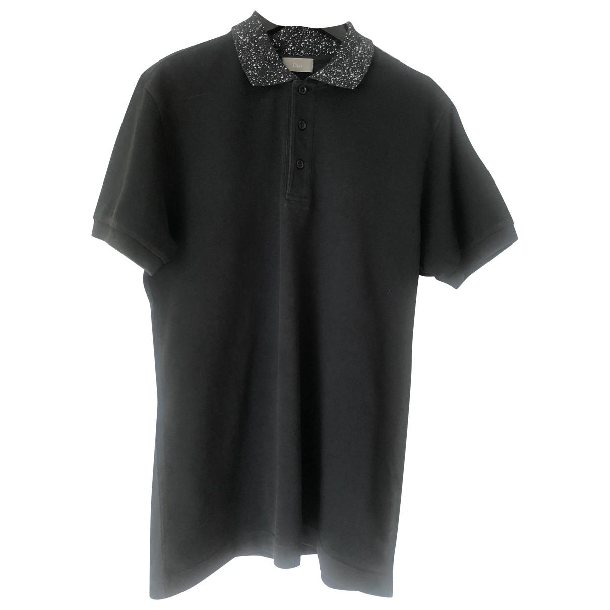 Dior - Polos   pour homme en coton - noir