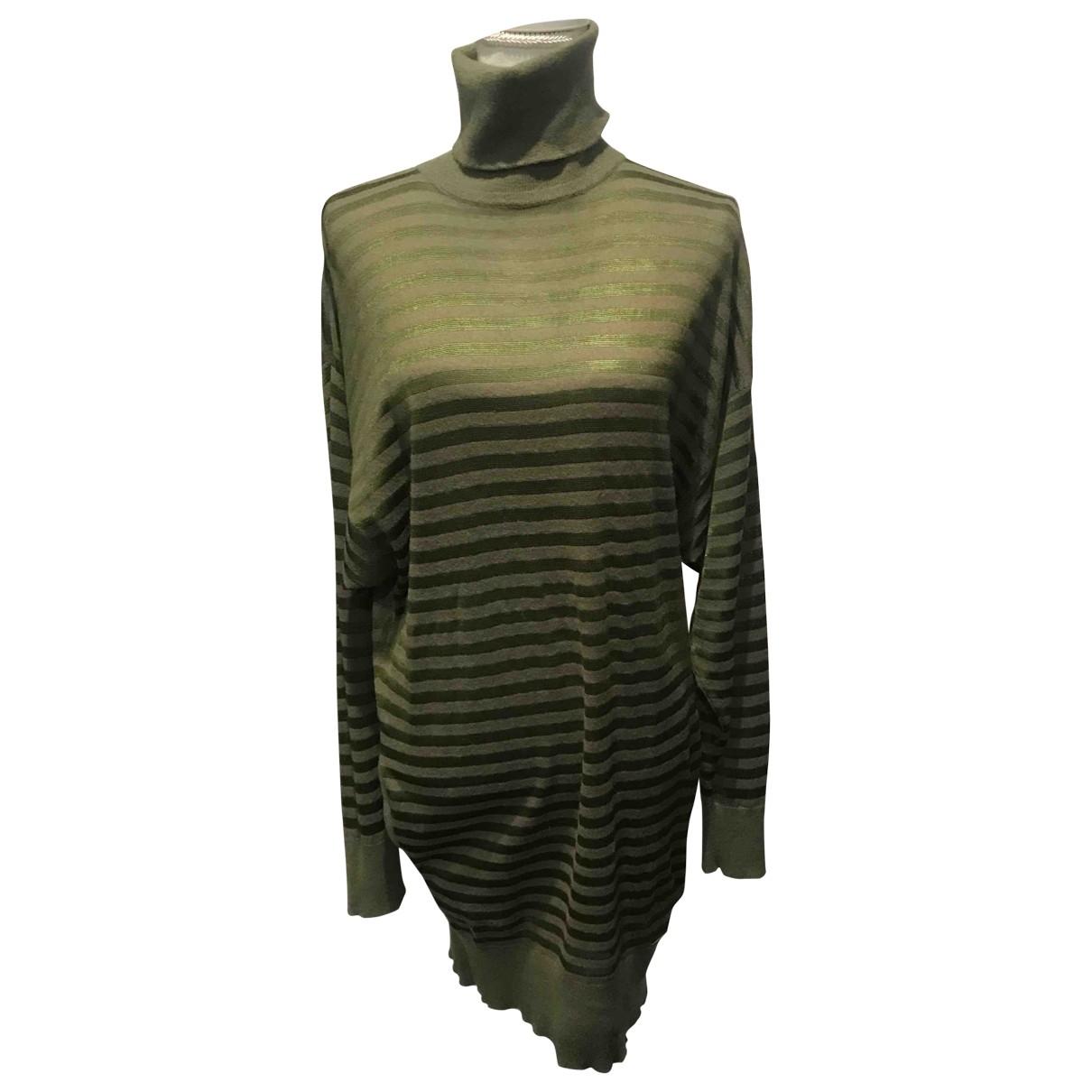 Burberry \N Green Wool dress for Women S International