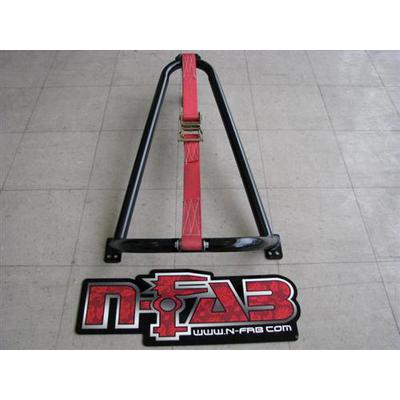 N-FAB Bed Mounted Tire Carrier in Black Powder Coat with Black Strap - BM1TCBK