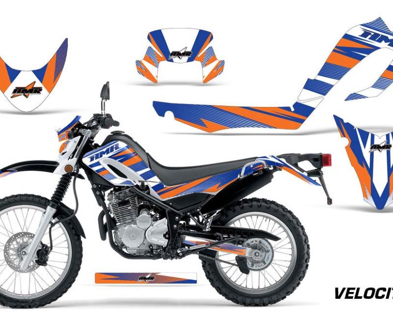 AMR Racing Dirt Bike Decal Graphic Kit MX Sticker Wrap For Yamaha XT250X 2006-2018áVELOCITY BLUE ORANGE