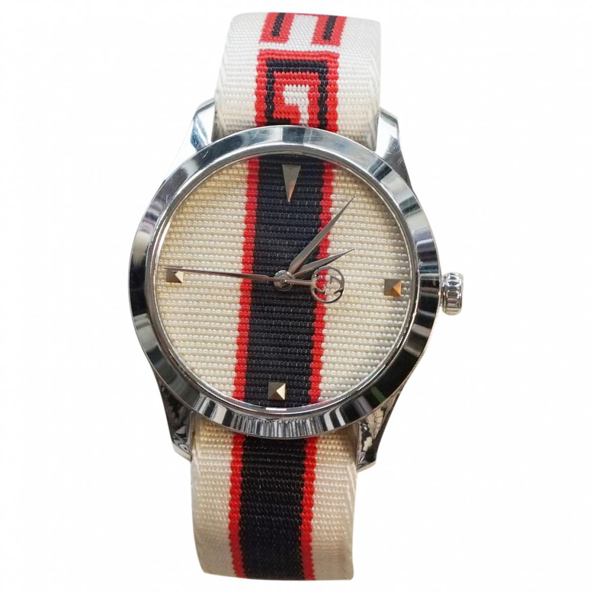 Gucci G-Timeless Uhr in  Beige Stahl