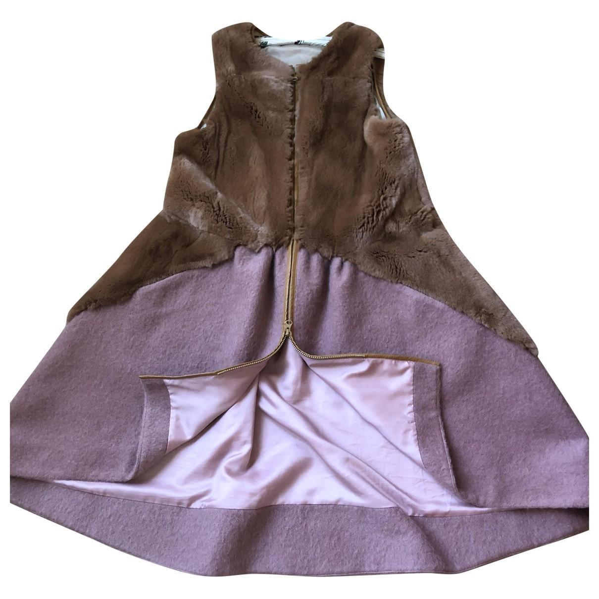 Tsumori Chisato - Manteau   pour femme en laine - camel