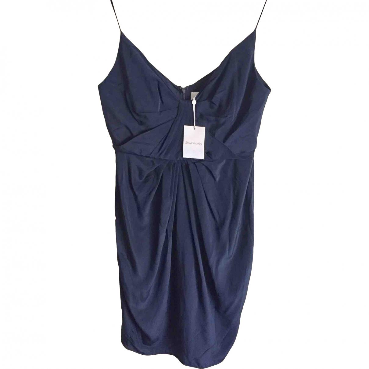 Zimmermann \N Navy Silk dress for Women 42 FR
