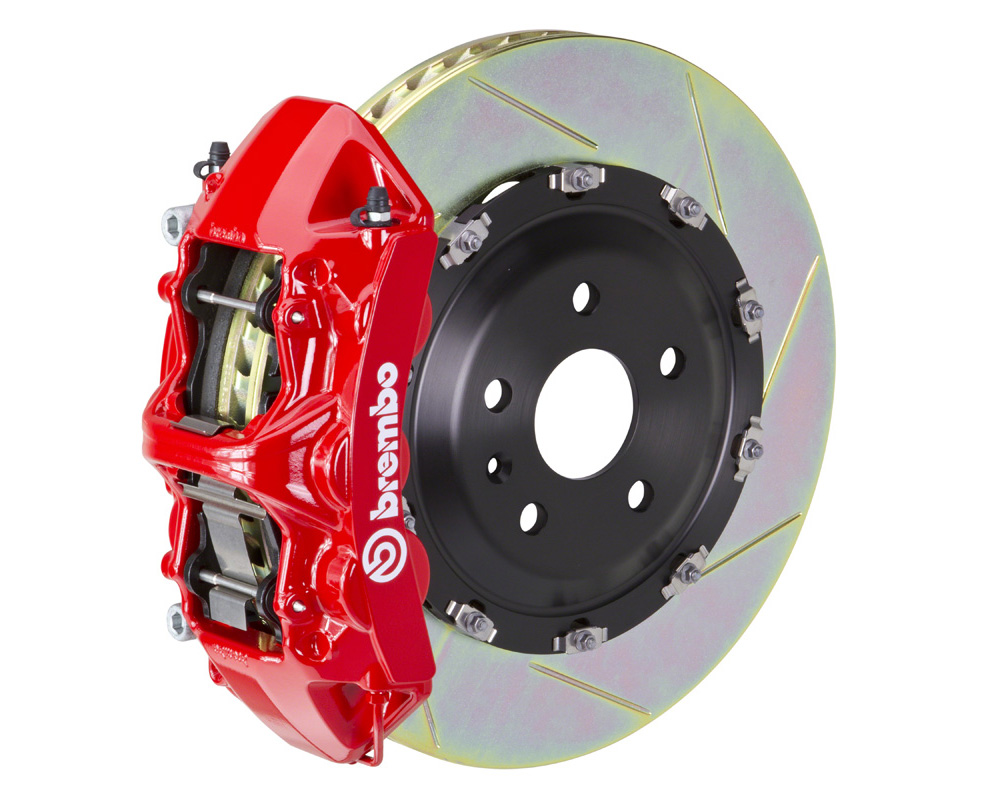 Brembo GT 380x34 2-Piece 6 Piston Red Slotted Front Big Brake Kit