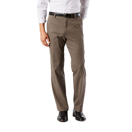 Dockers Men's Classic Fit Easy Khaki with Stretch Pants D3, 36 29, Brown