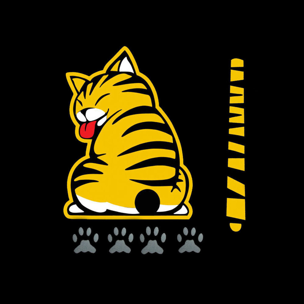 Cute Cat Tail-moving Car Window Stickers Wiper Stickers Rear Windshield Sticker