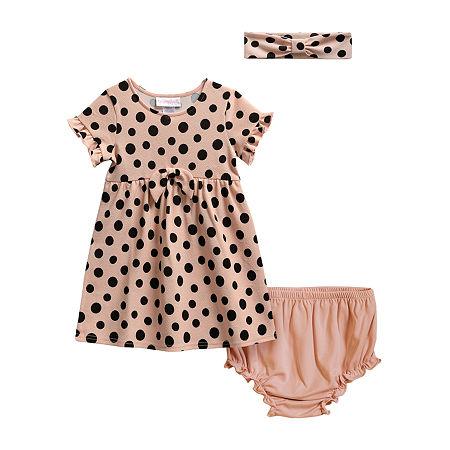Sweetheart Rose Baby Girls Sleeveless Babydoll Dress, 9-12 Months , Pink