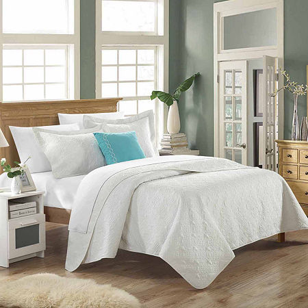 Chic Home Barcelo 8-pc. Embroidered Quilt Set, One Size , White