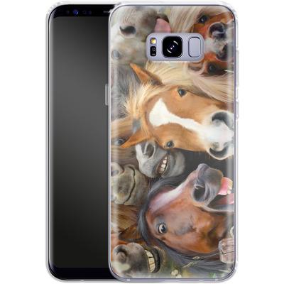 Samsung Galaxy S8 Plus Silikon Handyhuelle - Horse Selfie von Howard Robinson