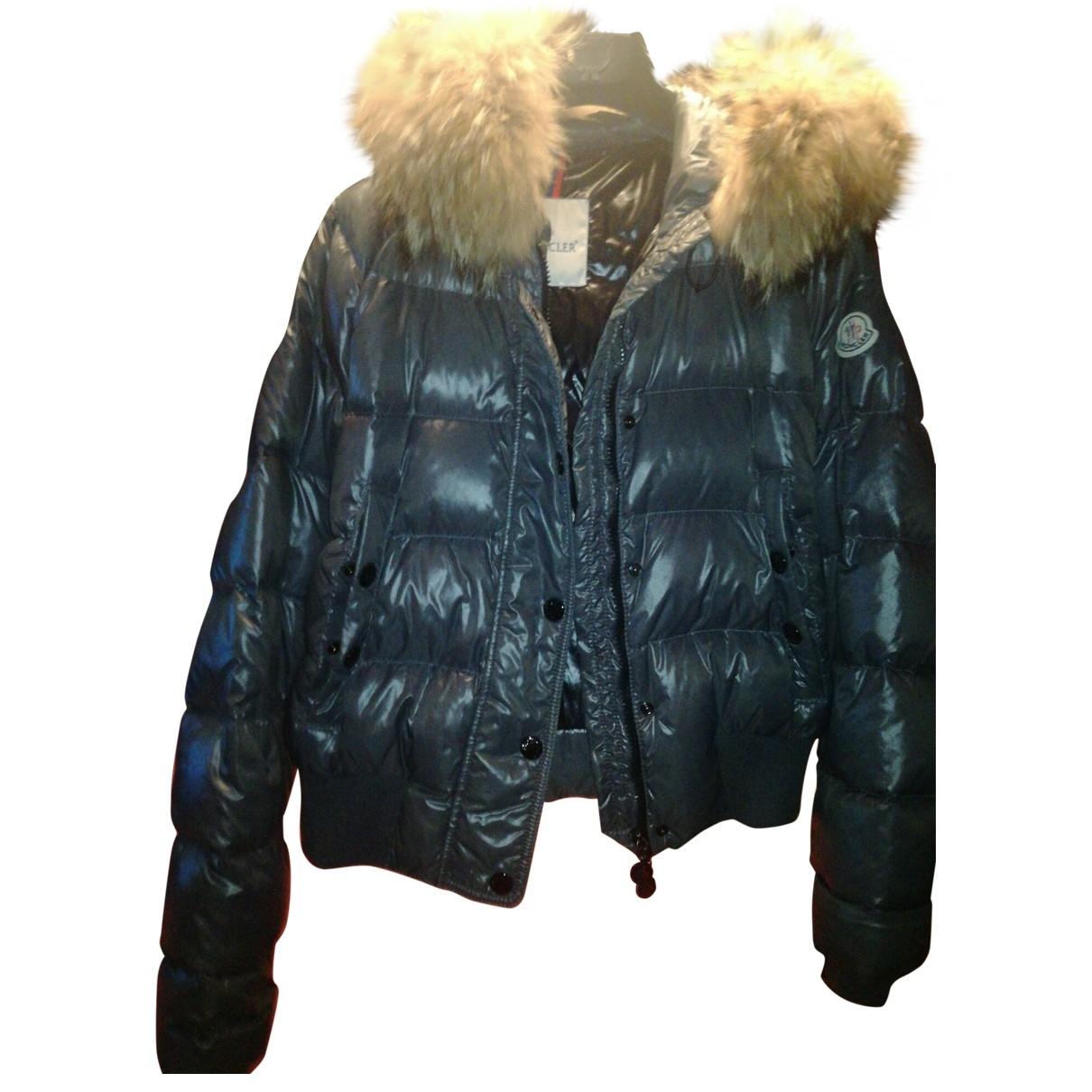 Moncler - Manteau Fur Hood pour femme - gris