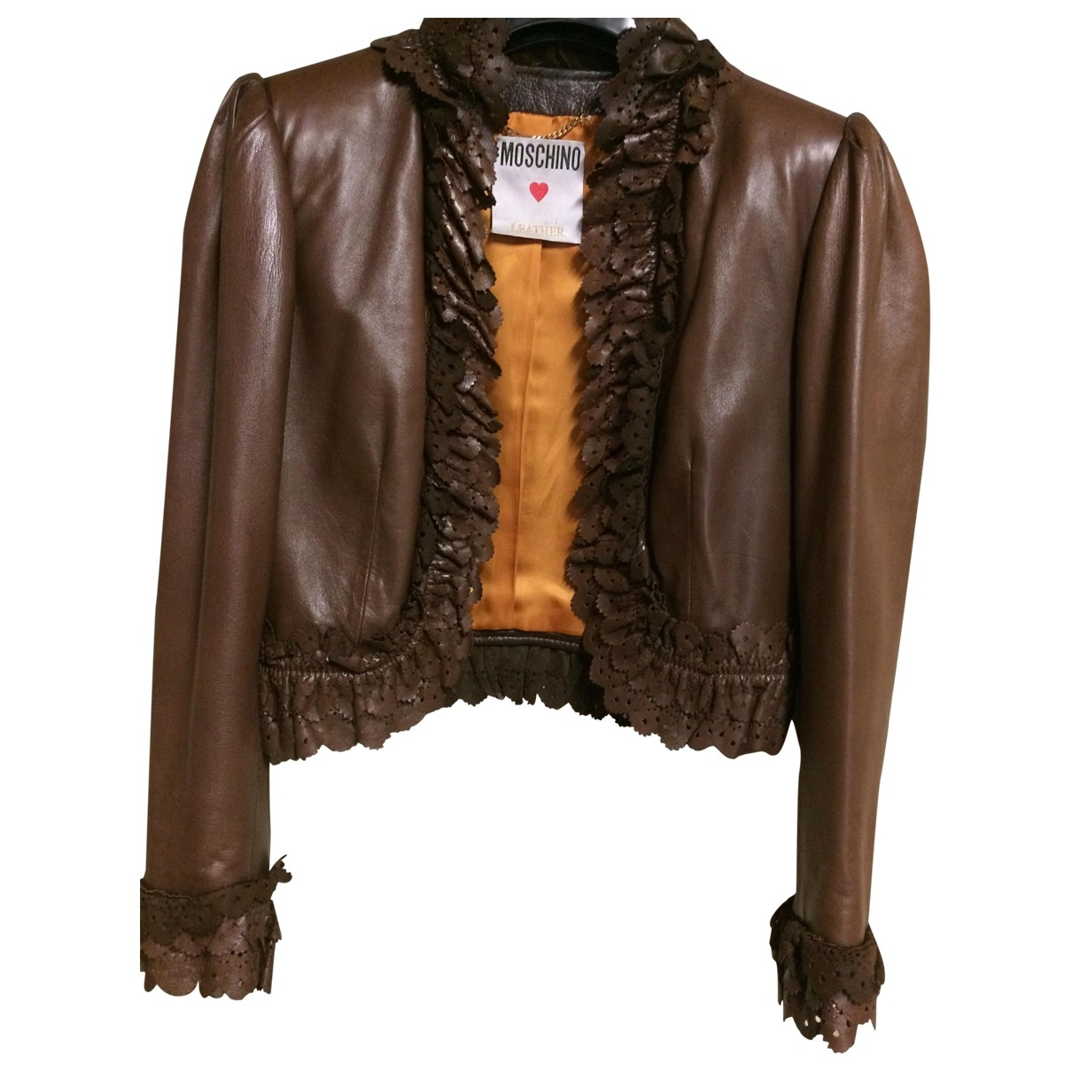 Moschino \N Brown Leather jacket for Women 40 FR
