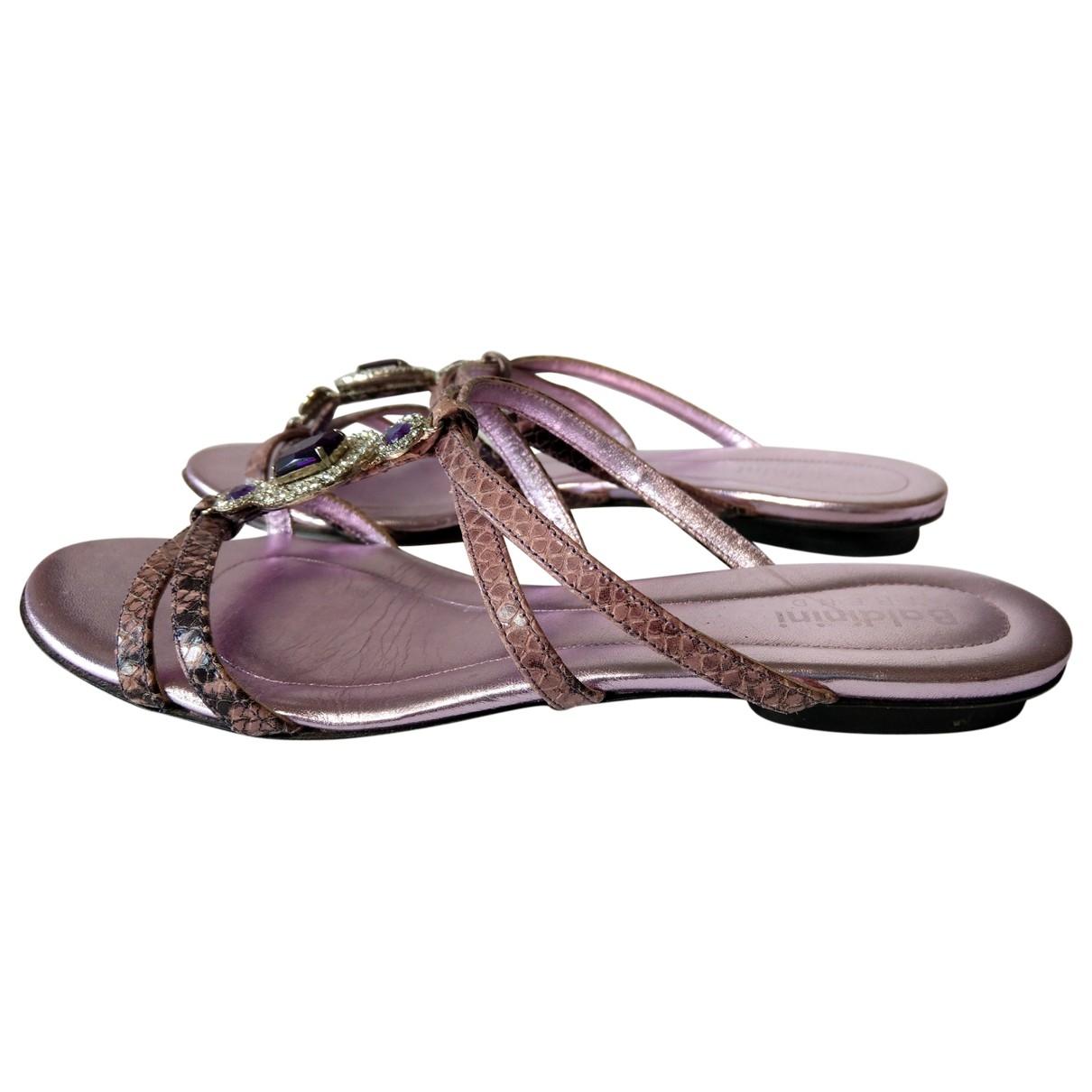 Baldinini - Mocassins   pour femme en cuir - violet