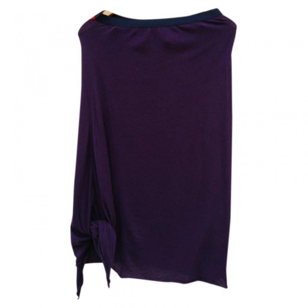 Yohji Yamamoto \N Purple Cotton skirt for Women 2 0-5