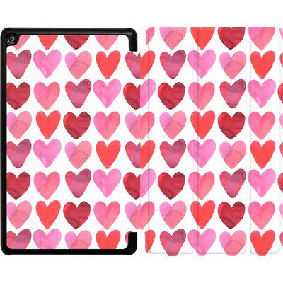Amazon Fire HD 8 (2018) Tablet Smart Case - Heart Watercolour von Amy Sia