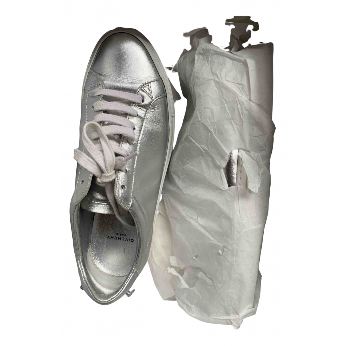 Givenchy \N Sneakers in  Silber Leder