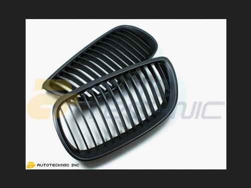 AutoTecknic Replacement ABS Matte Black Front Grilles BMW E92 Coupe | E93 Cabrio | 3 Series 07-13