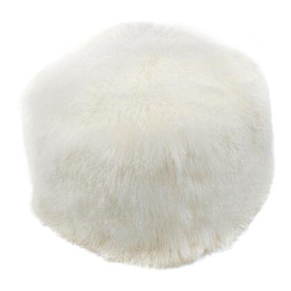 XU-1009-24 Pouf with Polyester Bean Fill in White