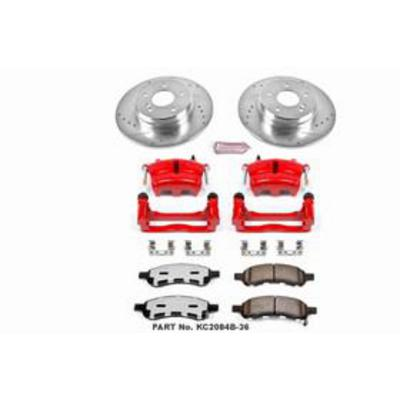 Power Stop Z36 Extreme Performance Truck & Tow 1-Click Front and Rear Brake Kit with Calipers - KC2085B-36