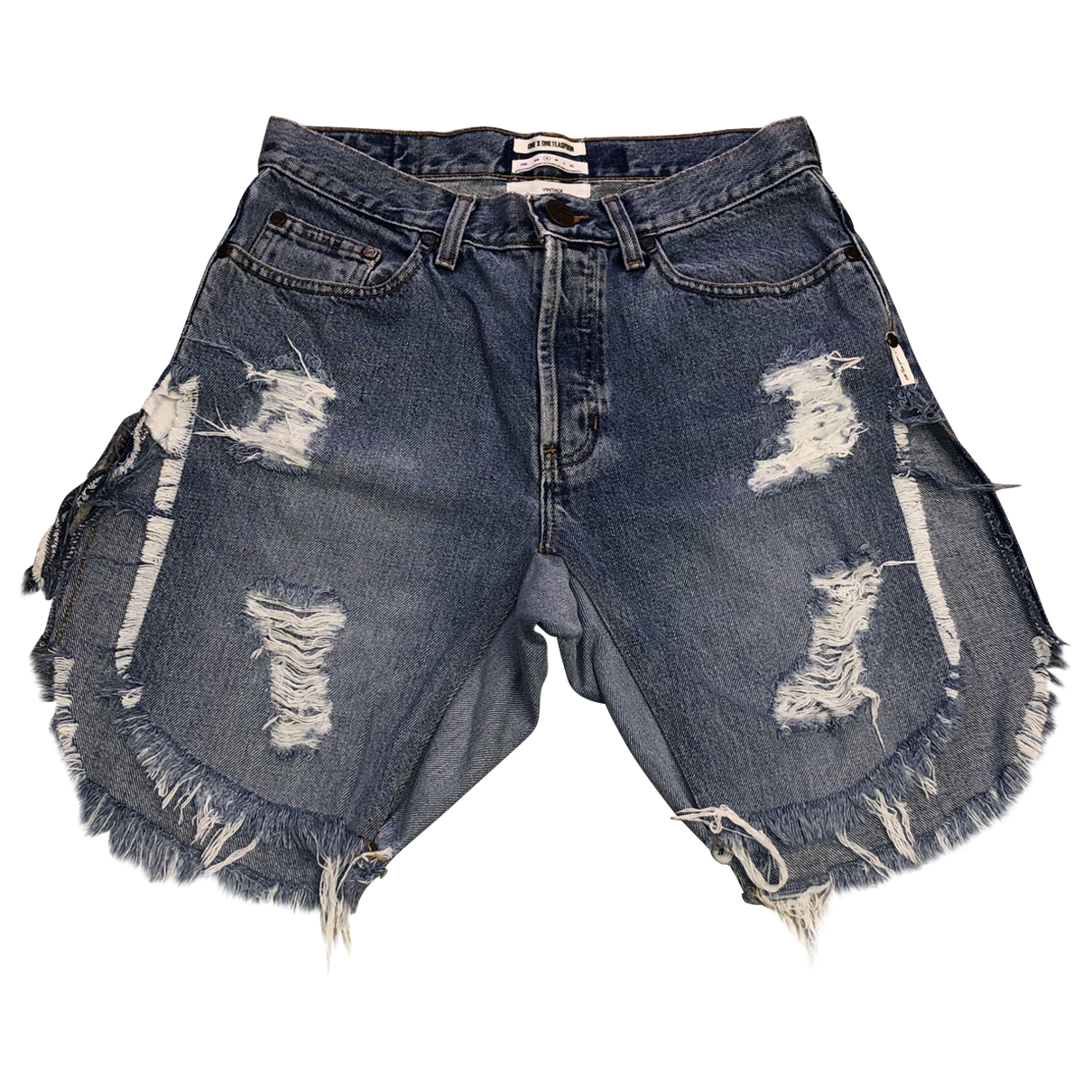 One Teaspoon \N Shorts in  Blau Denim - Jeans