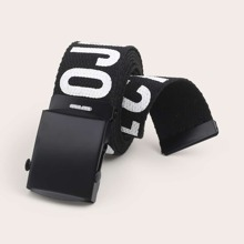 Men Letter Pattern Buckle Belt