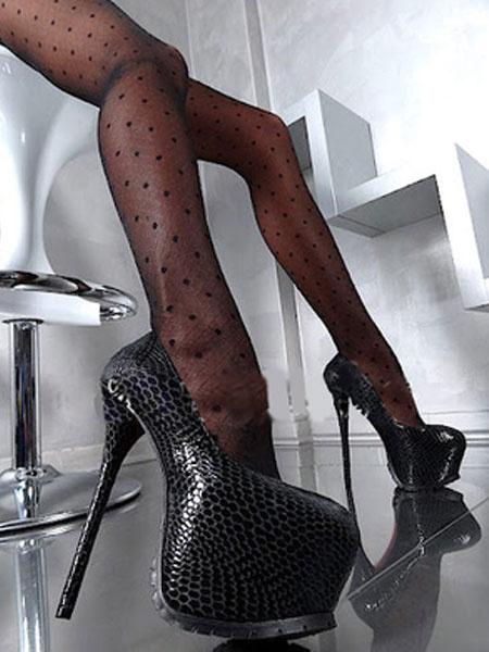 Milanoo Zapatos de plataforma de puntera de forma de almendra de tacon de stiletto sexy de PU Zapatos de tacon alto para mujer para uso en club