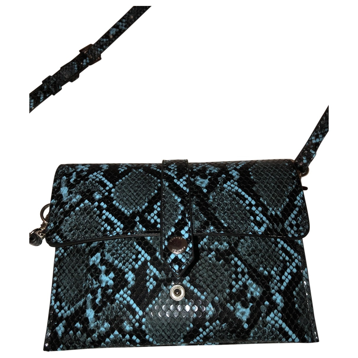 Non Signe / Unsigned \N Clutch in  Blau Leder