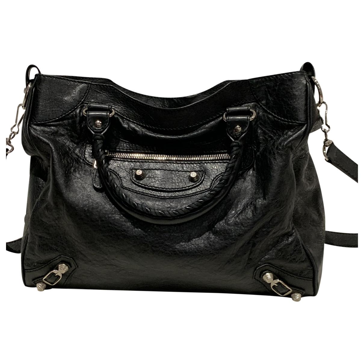 Balenciaga Vélo Black Leather handbag for Women \N