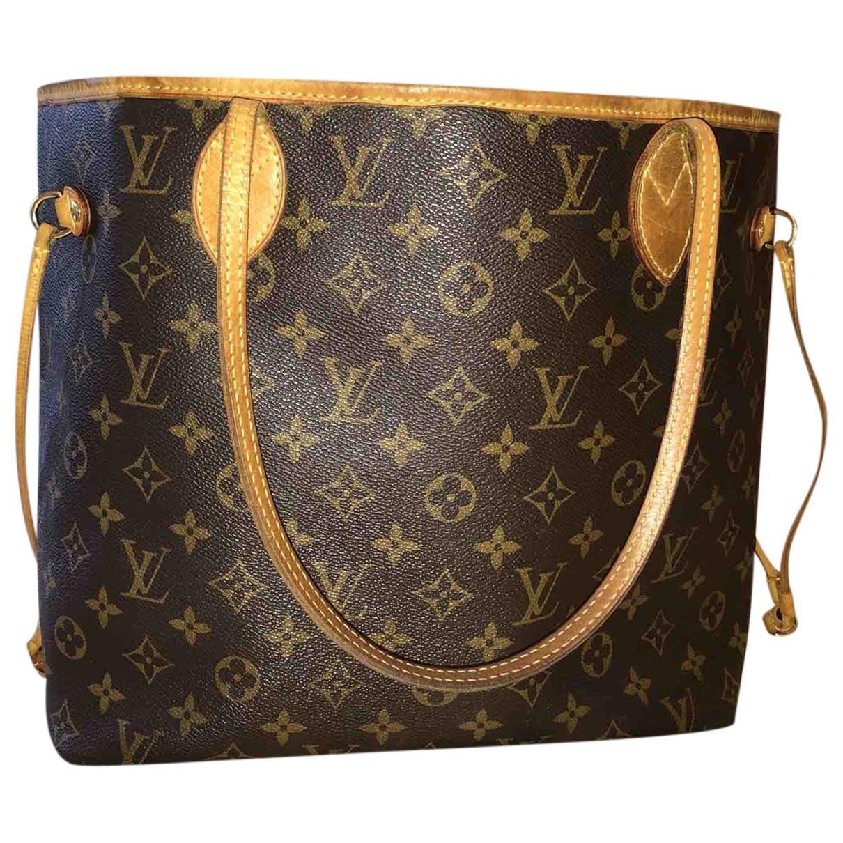 Louis Vuitton Neverfull Brown Cloth handbag for Women N