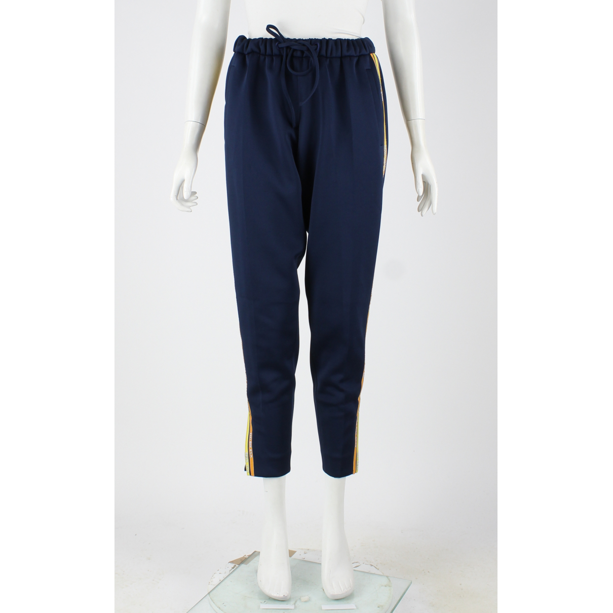 Mira Mikati N Navy Cotton Trousers for Women 38 FR
