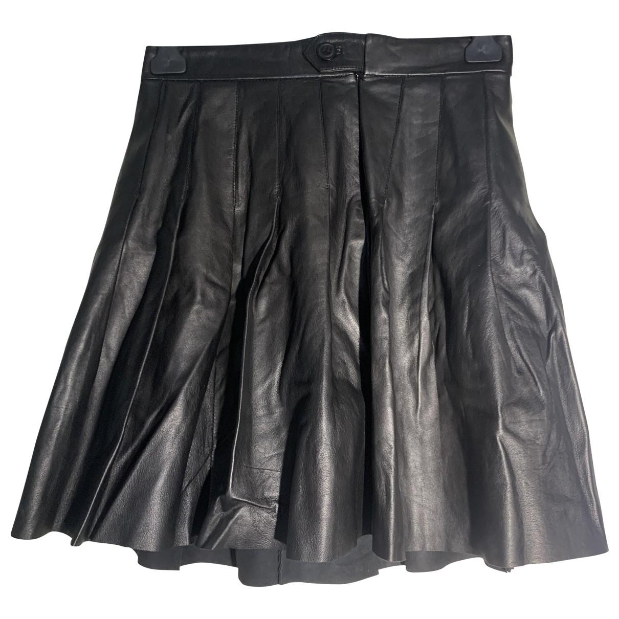 Maje - Jupe Fall Winter 2019 pour femme en cuir - noir
