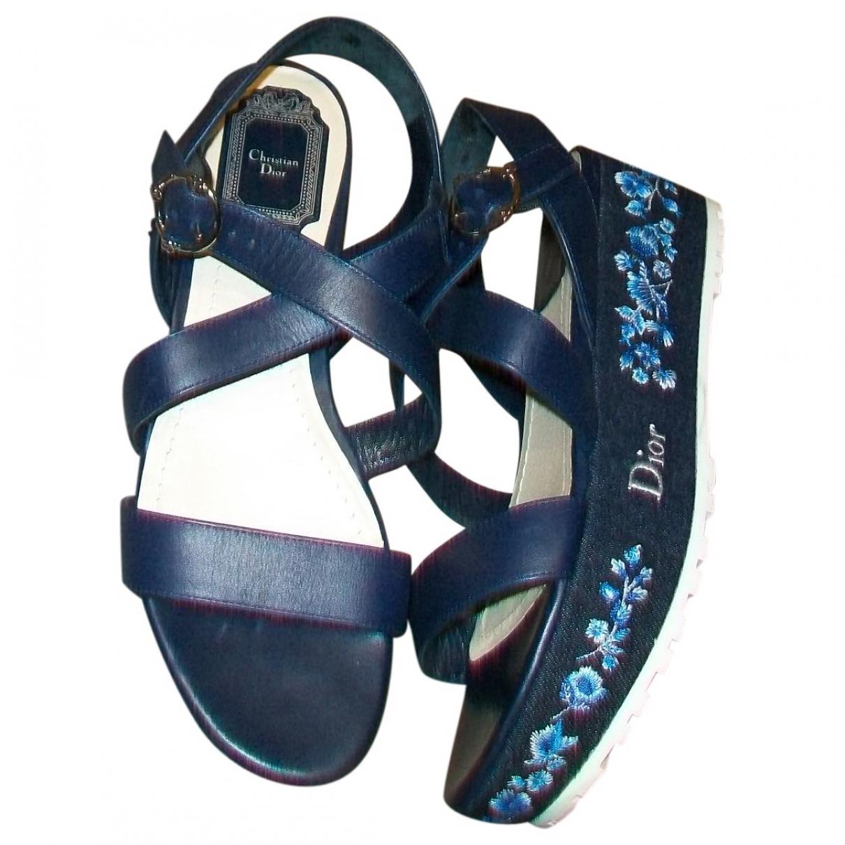 Dior \N Sandalen in  Marine Leder