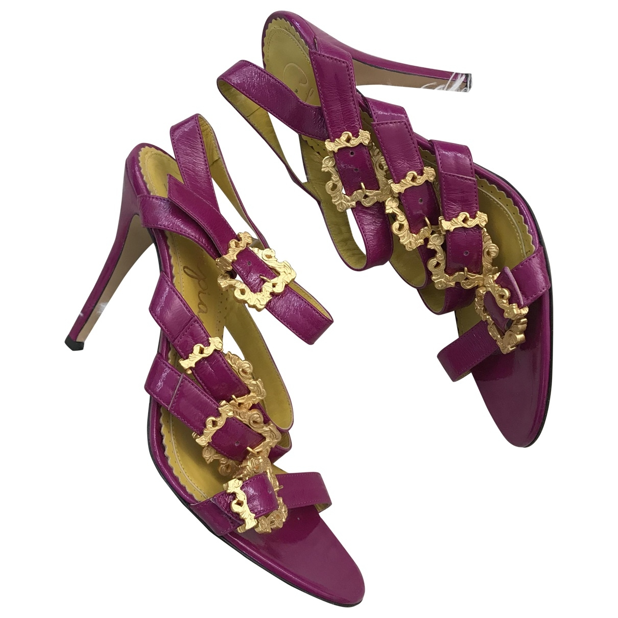 Charlotte Olympia - Sandales   pour femme en cuir - violet