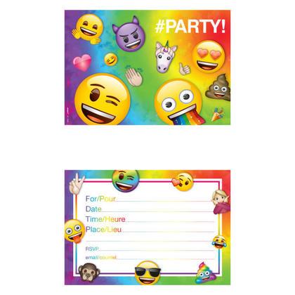 Emoji 8 Invitations NEW For Birthday Party