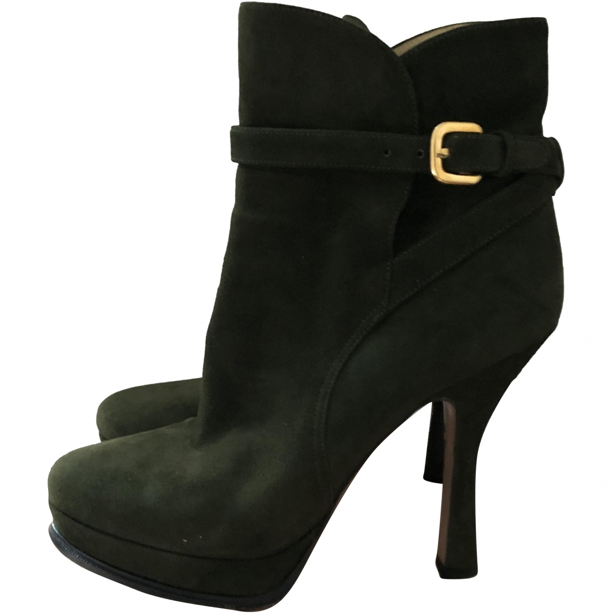 Prada \N Suede Ankle boots for Women 37.5 EU
