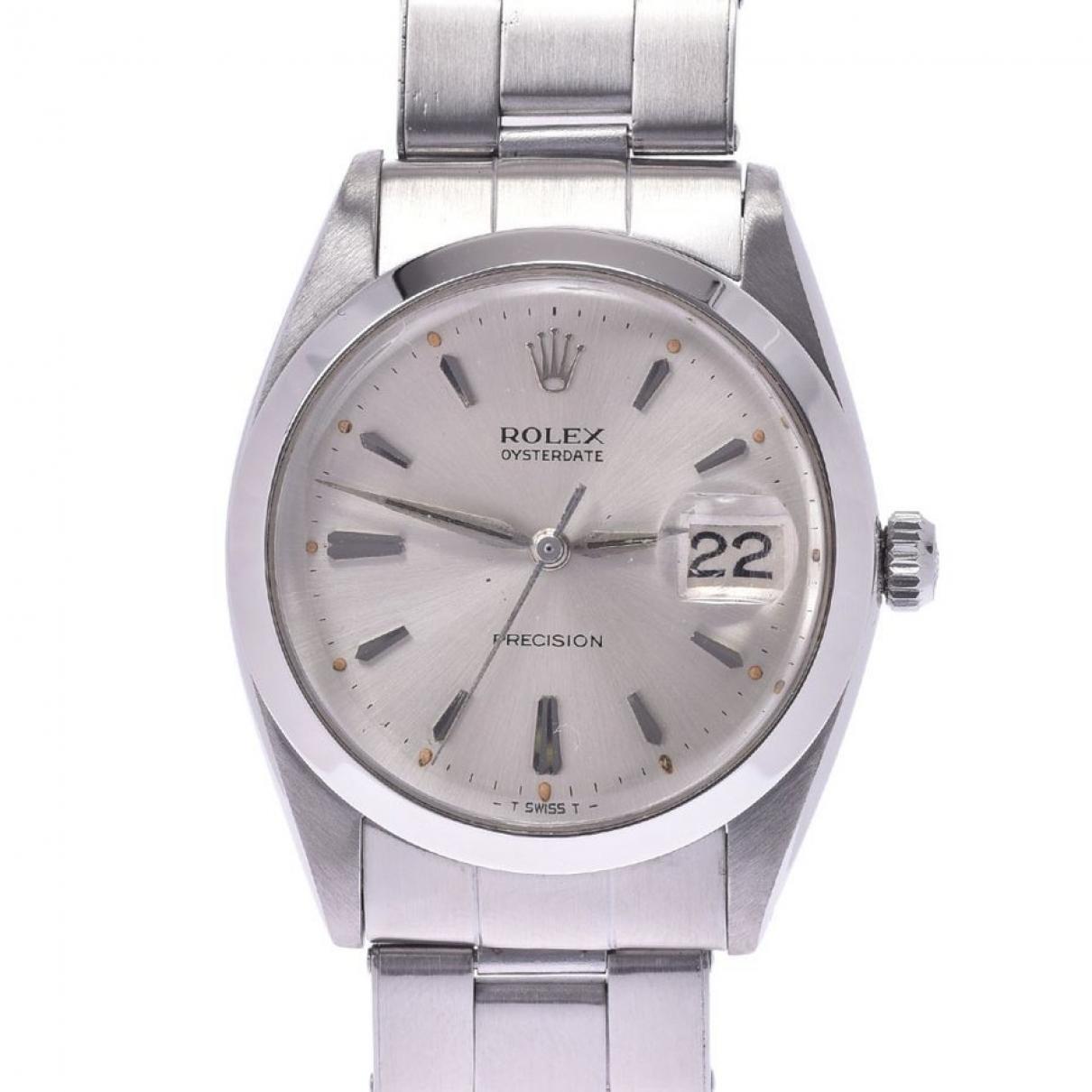 Rolex Oysterdate 34mm Silver Steel watch for Women \N