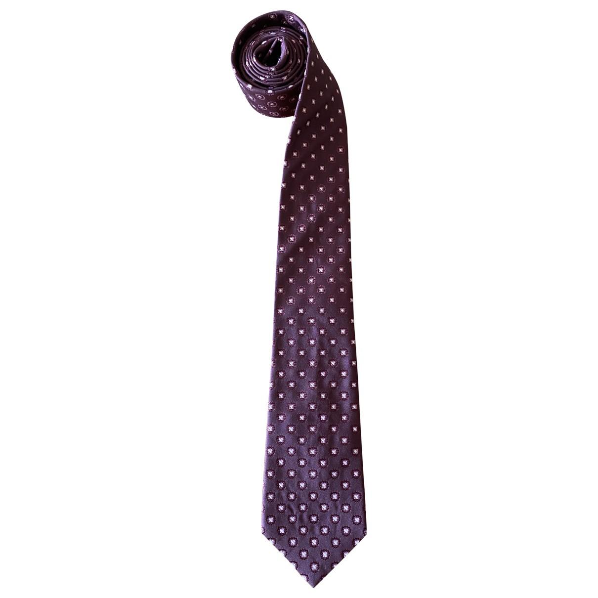 Kiton \N Krawatten in  Lila Seide